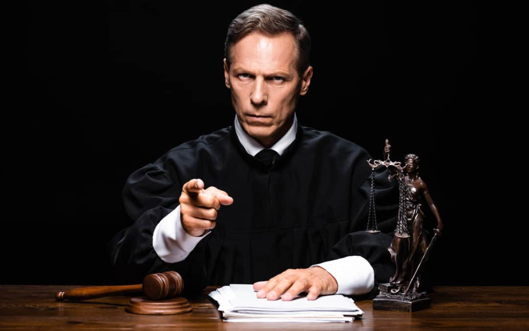 Angry Judge Pointing