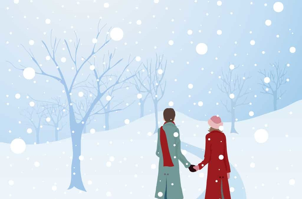 Marriage Couple in the gift of Snow